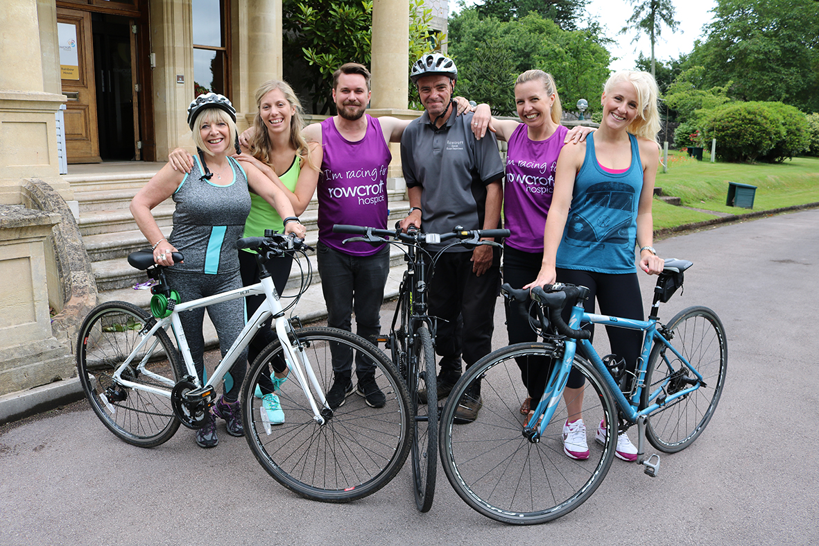 Rowcrofts fundraising team with their bikes